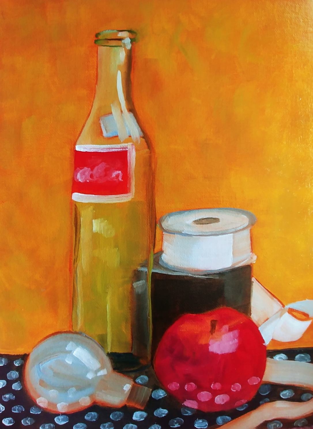 StillLifeWithCokeBottle_9x12_Oil_2019