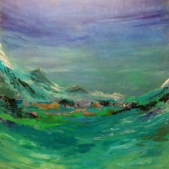 Breathing Fresh Air, 2019, 30x30 acrylic on canvas