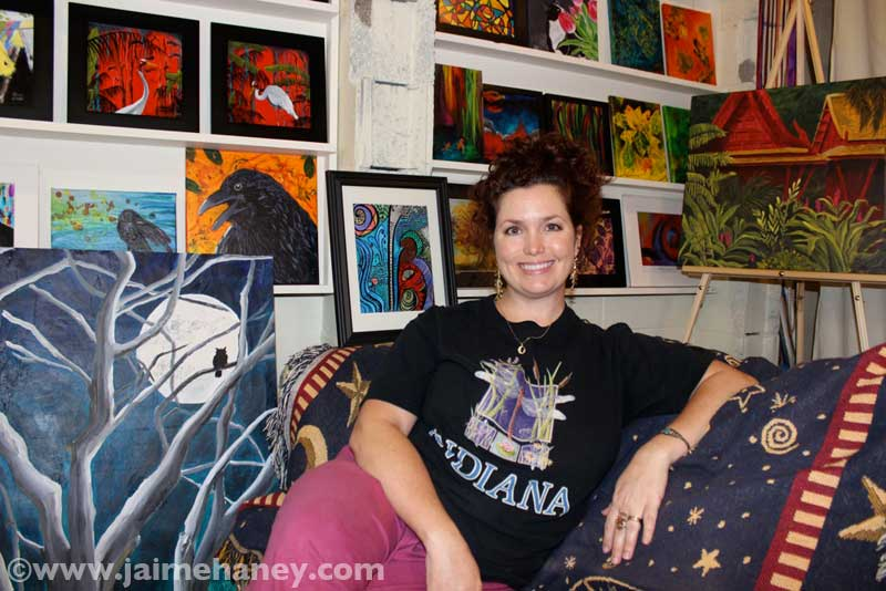 Jaime-Haney-sitting-in-her-art-studio-August-20141